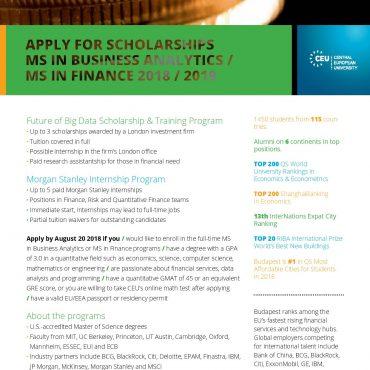Future of Big Data Scholarship & Training Program – stypendium ufundowane przez Morgan Stanley
