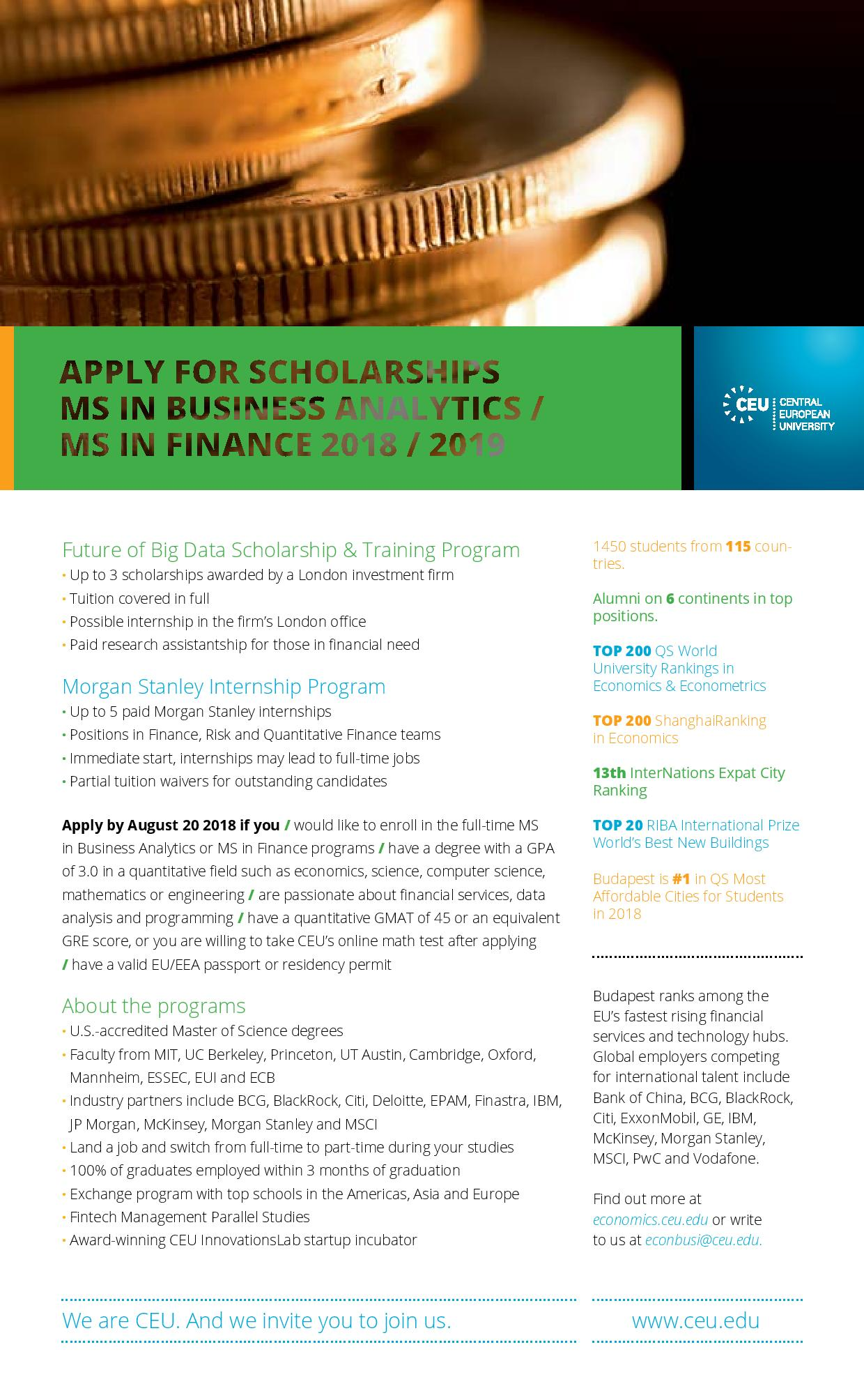 Future of Big Data Scholarship & Training Program